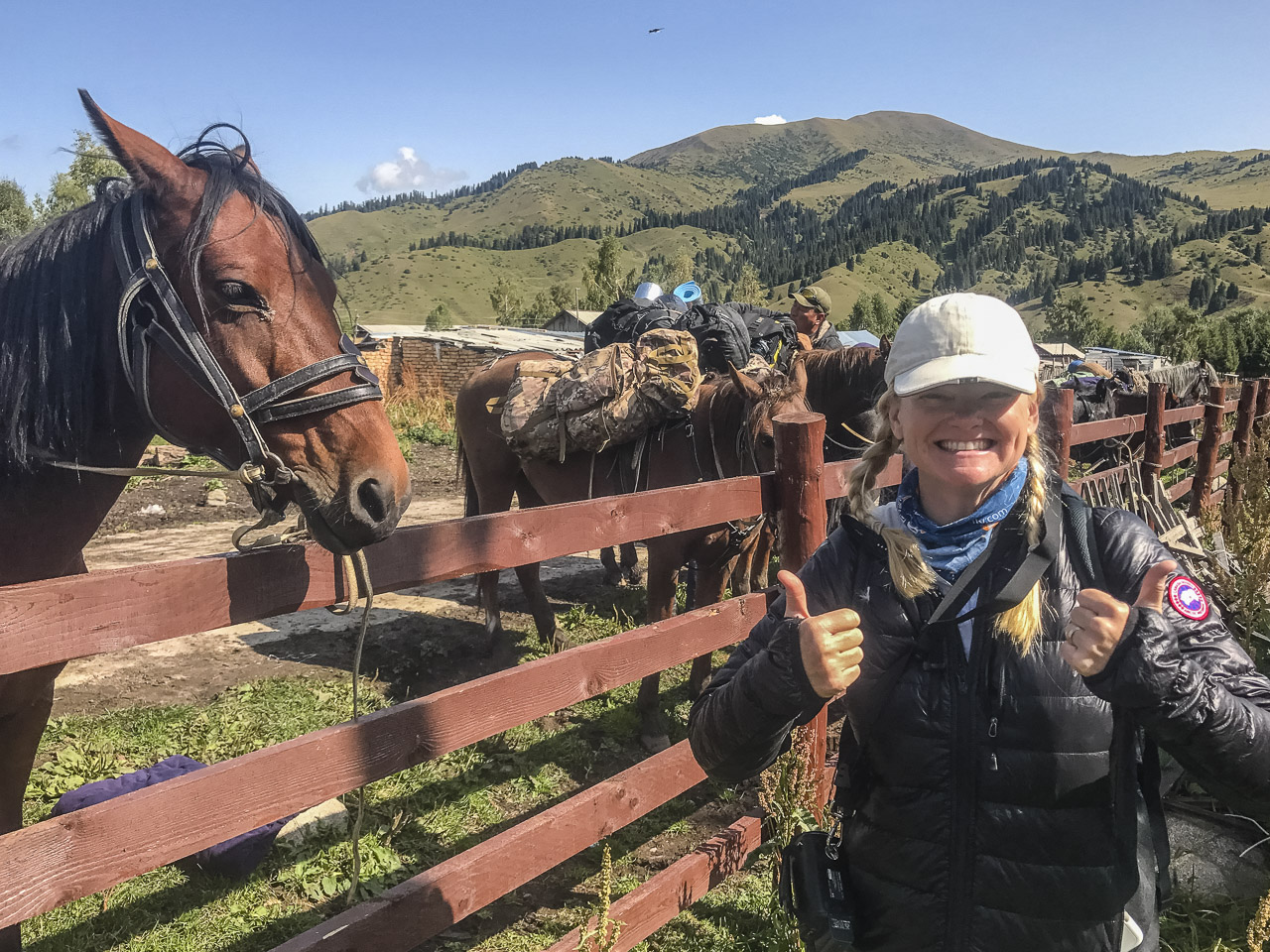 Starting out our Kyrgyzstan trek in Jyrgalan