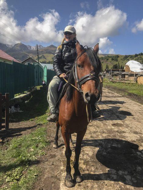Kyrgyzstan trekking horses