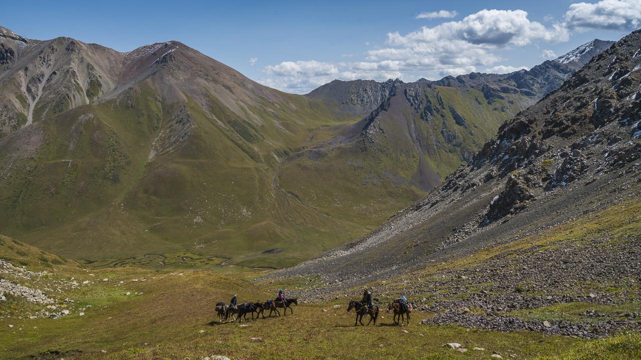 trekking Kyrgyzstan first pass