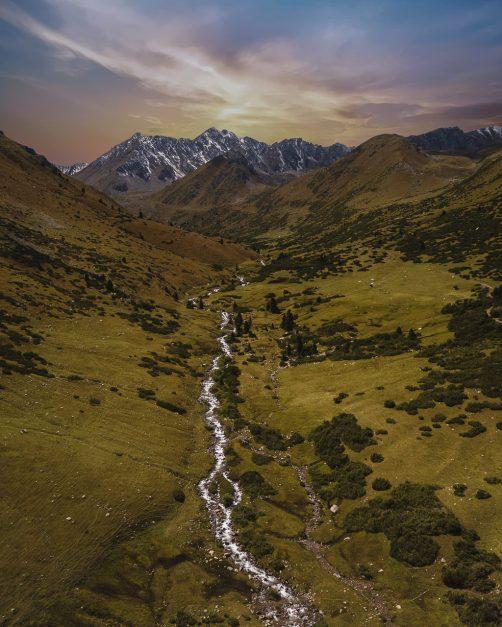 trekking kyrgyzstan drone