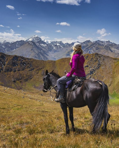 Kyrgyzstan horse trekking views