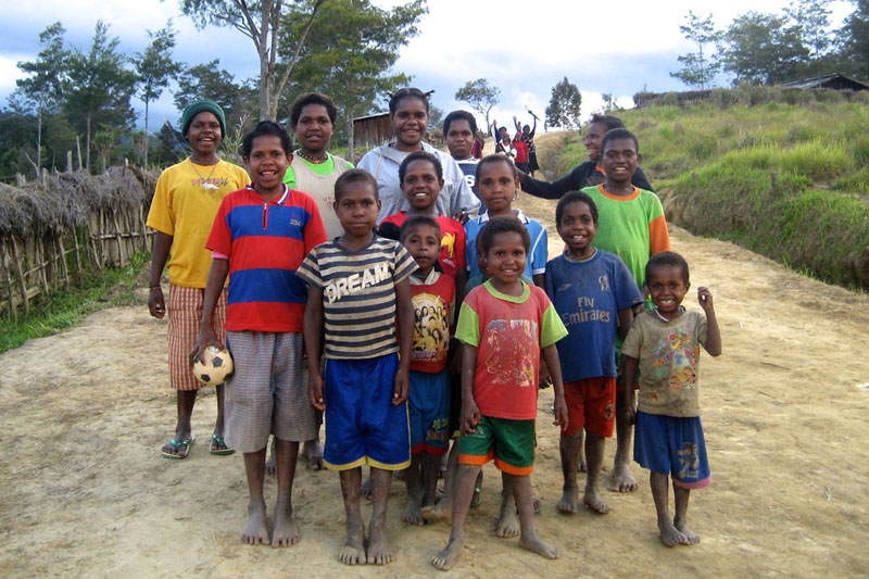 tribes of papua indonesia soccer