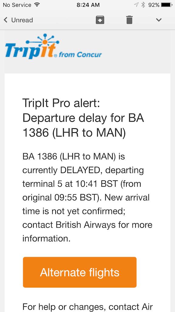 tripit pro alerts