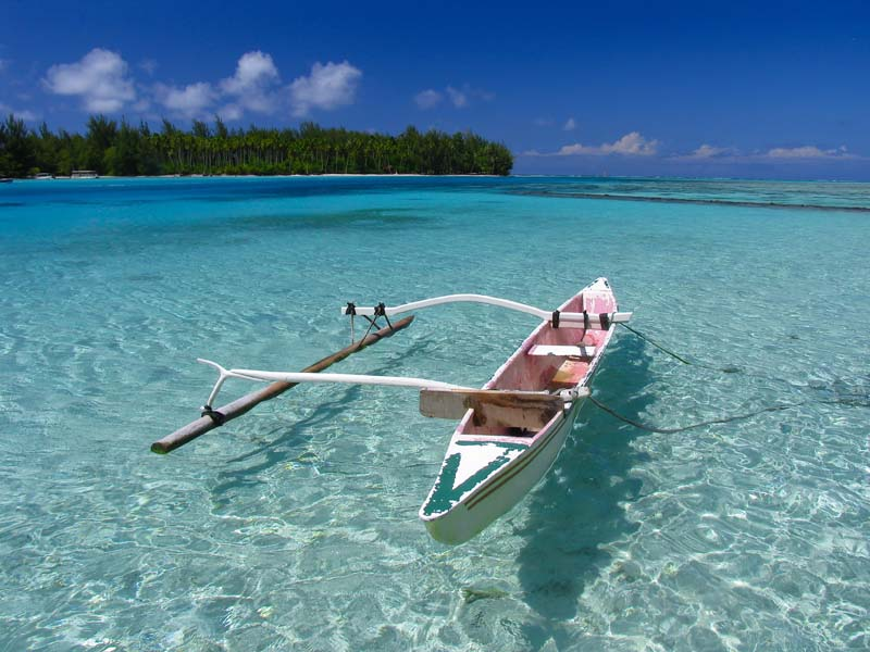 tahiti tropical islands | outrigger boat