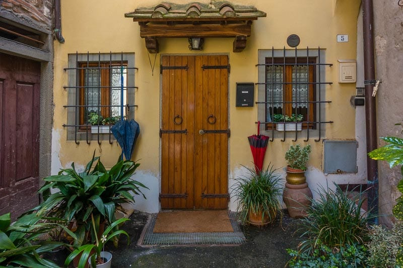 front door of old tuscan house
