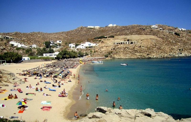 unique beach mykonos