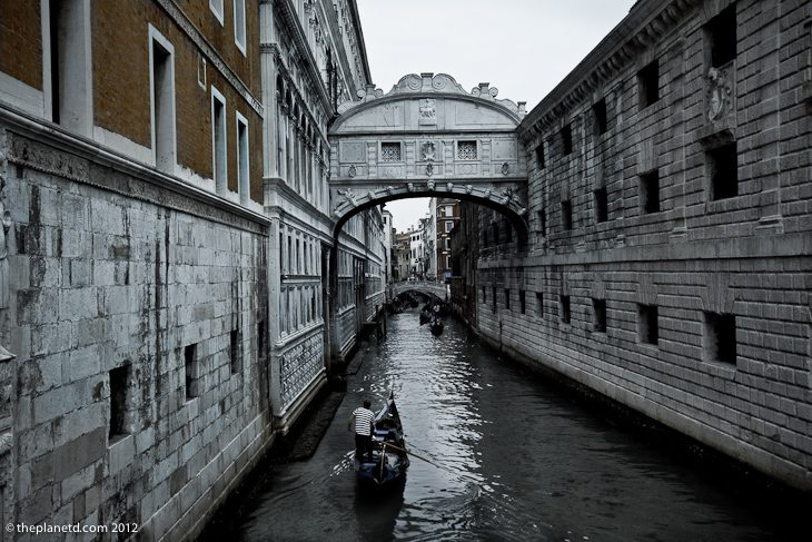 Bridge of Sighs in Venice Italy