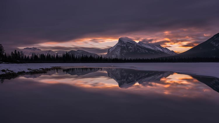 sunrise over vermillion lake | banff alberta