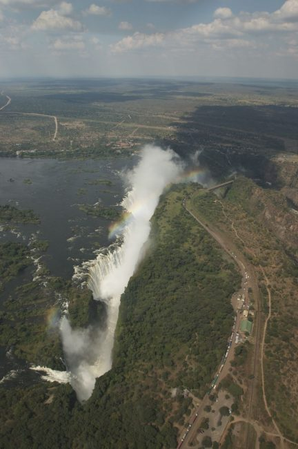 Victoria Falls Zambia view from the Helicopter