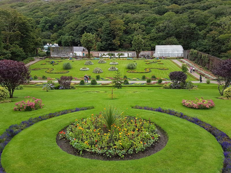 kylemore abbey arial view