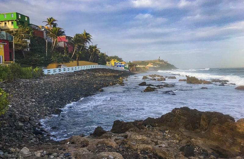 The beaches of La Perla, Puerto Rico