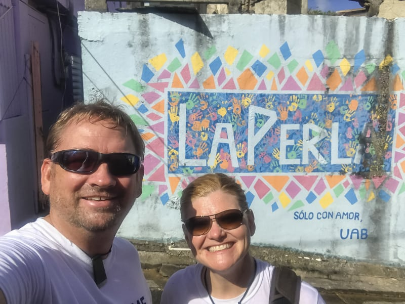 Helping out in La Perla Puerto Rico