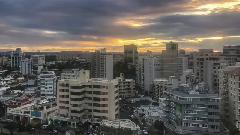 Sunset in San Juan, Puerto Rico