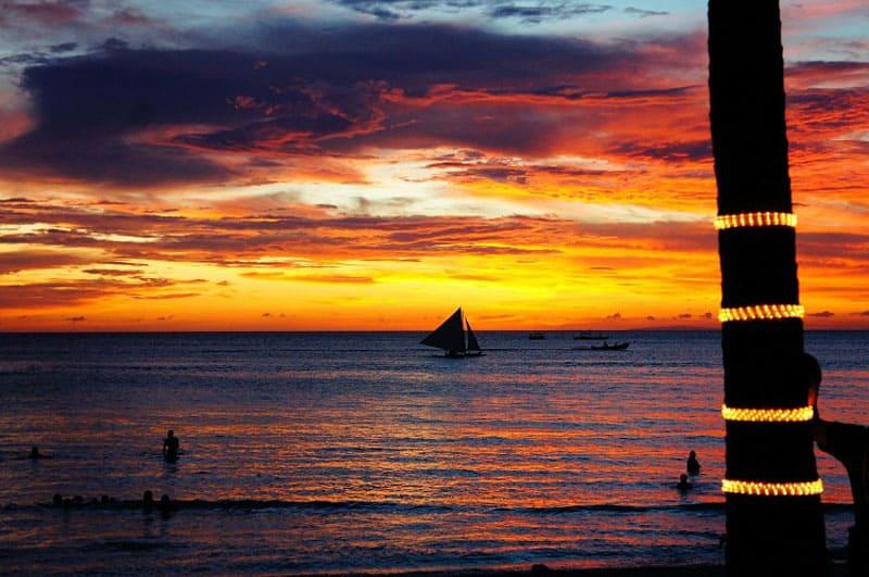 visit boracay sunset
