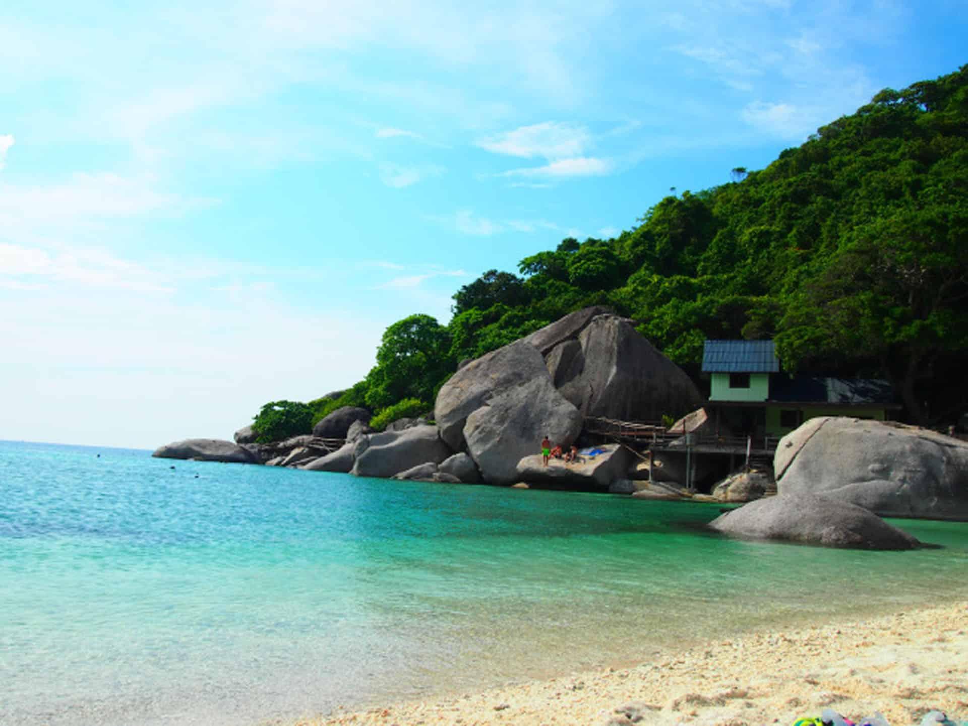 rocky beach of koh samui