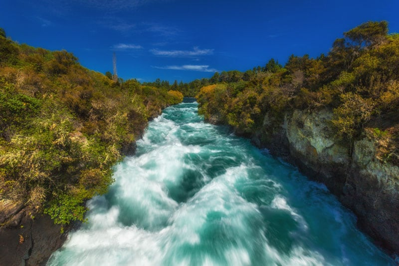 what to see in new zealand huka falls