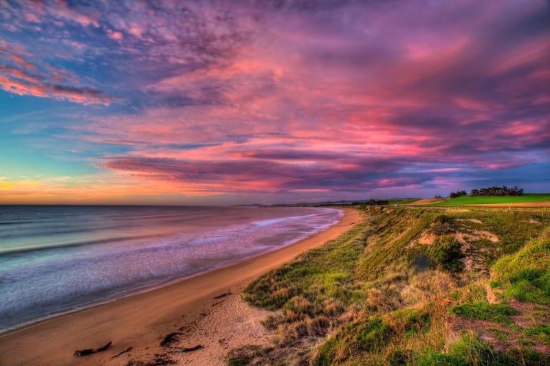visit new zealand sunset