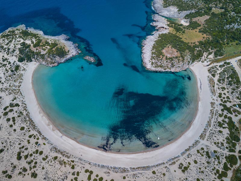 costa navarino arial view voidolilia beach