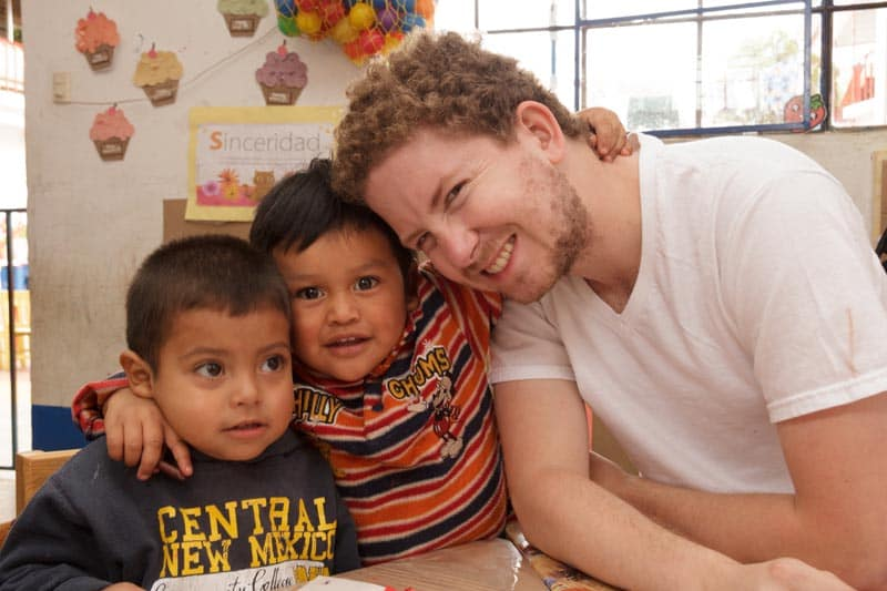 volunteer abroad students and teacher