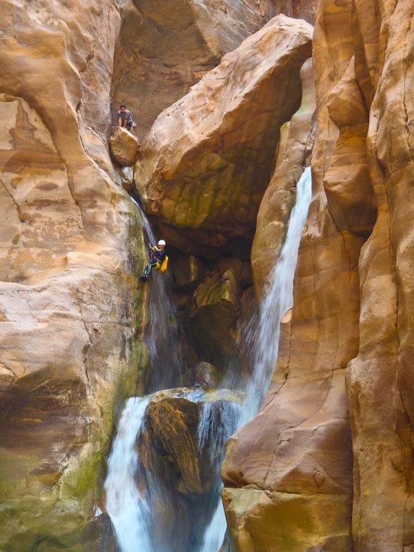 abseiling waterfall wadi mujib