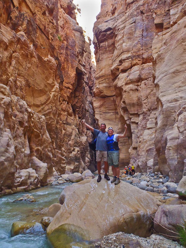 canyoning wadi mujib dave and deb