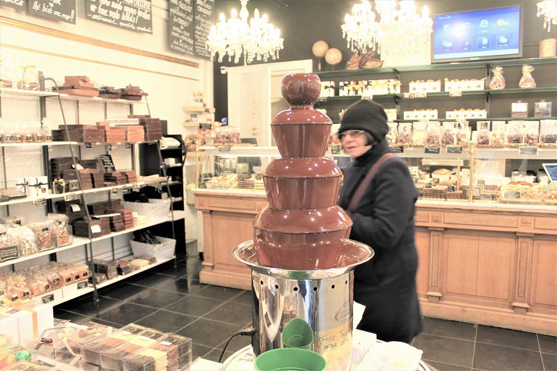bruges on a budget chococlate fountain