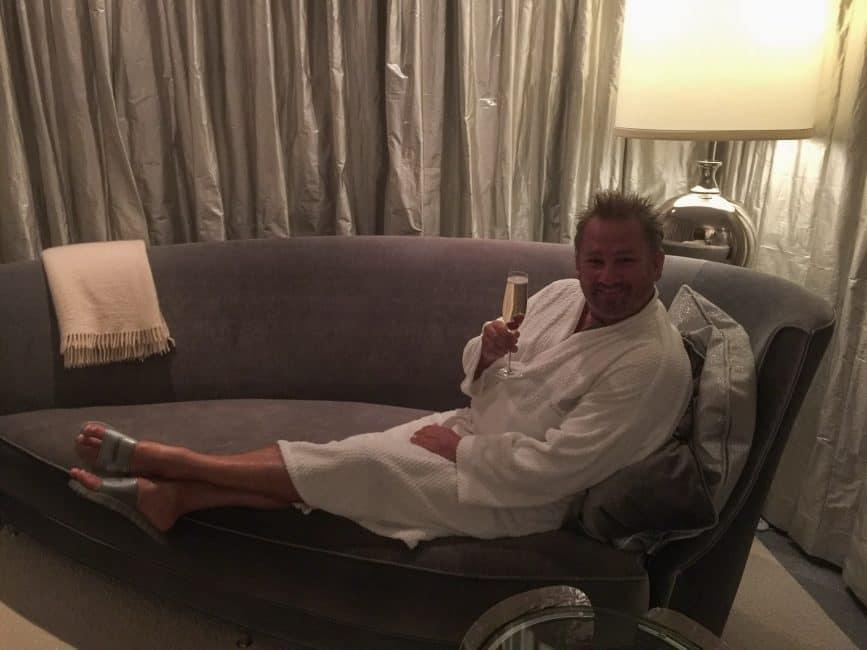 dave enjoys the ritz carlton spa on Grand Cayman Island
