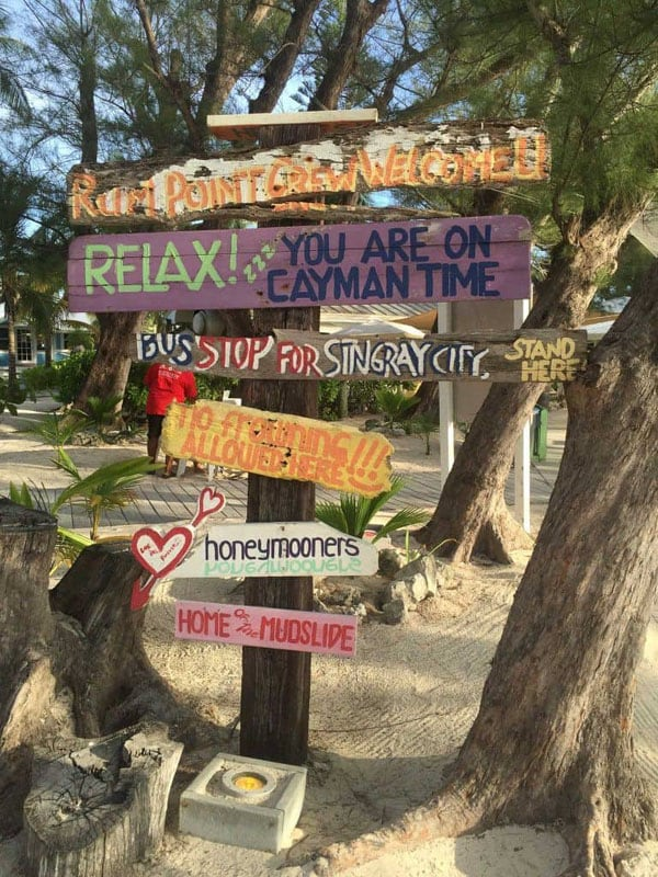 what to do in grand cayman signs