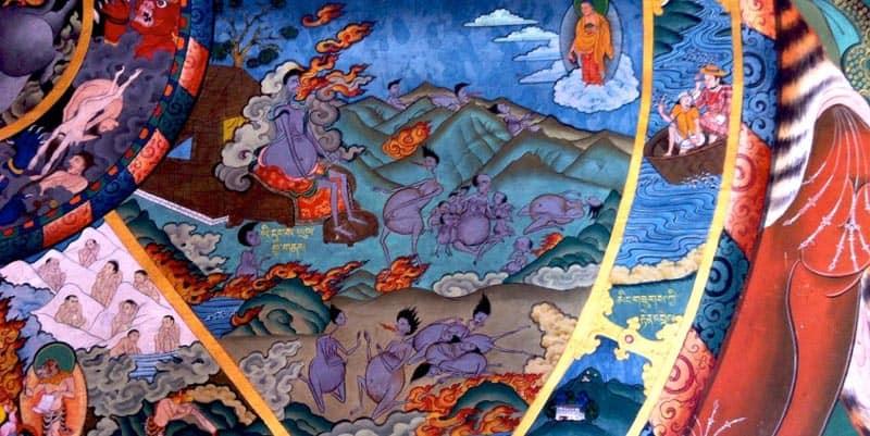 bhutan culture wheel of life