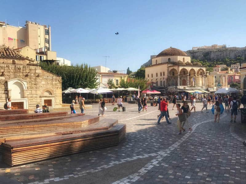where-to-stay-in-athens-Monastiraki- Square