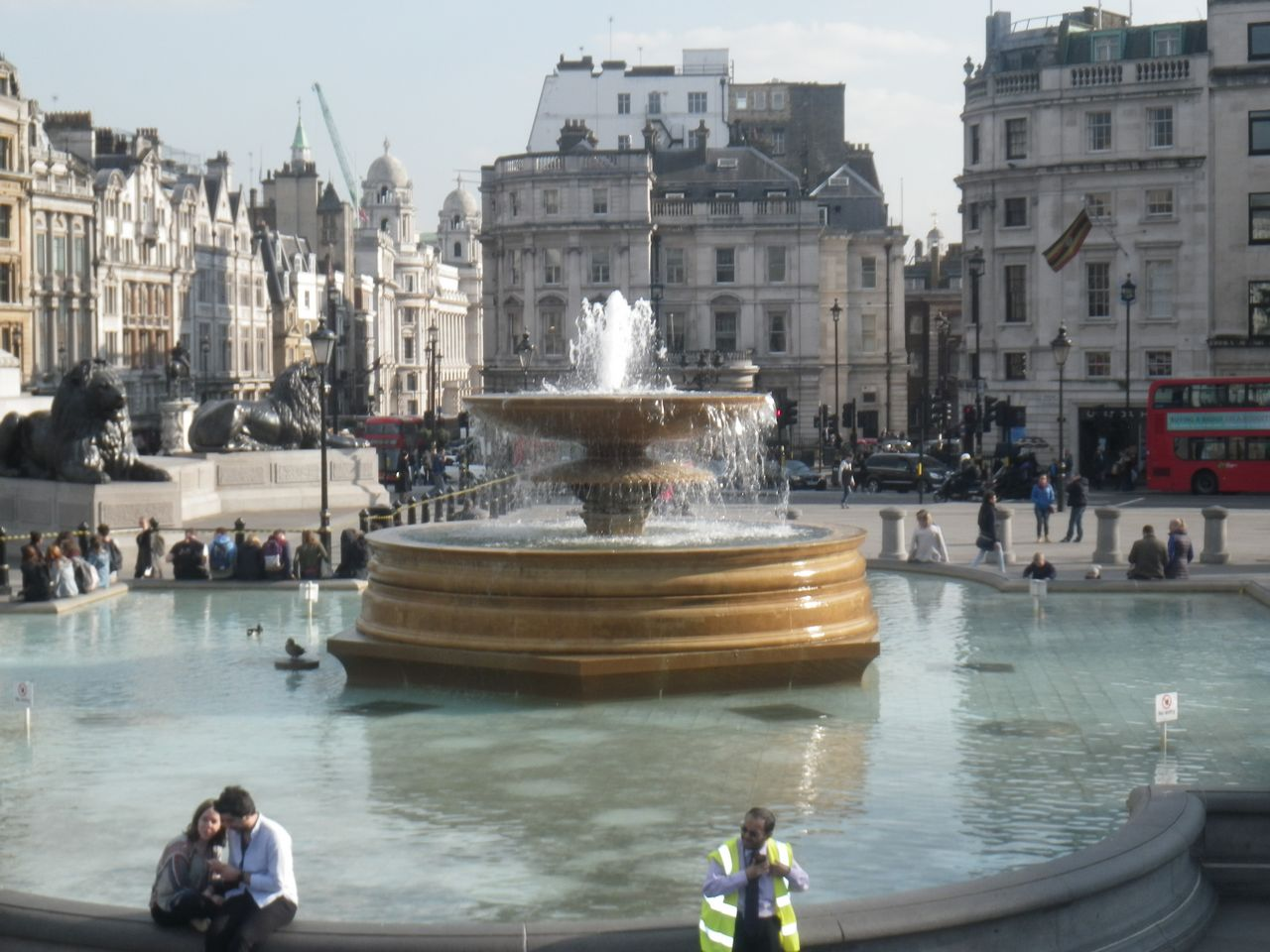 Where to stay in London best areas Trafalgar Square's iconic fountain