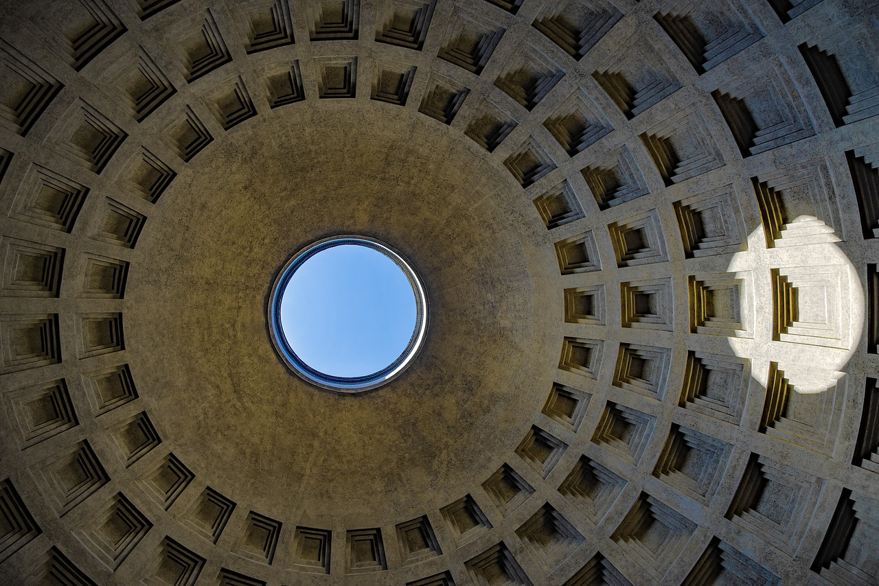 The Pantheon - Roof in Rome