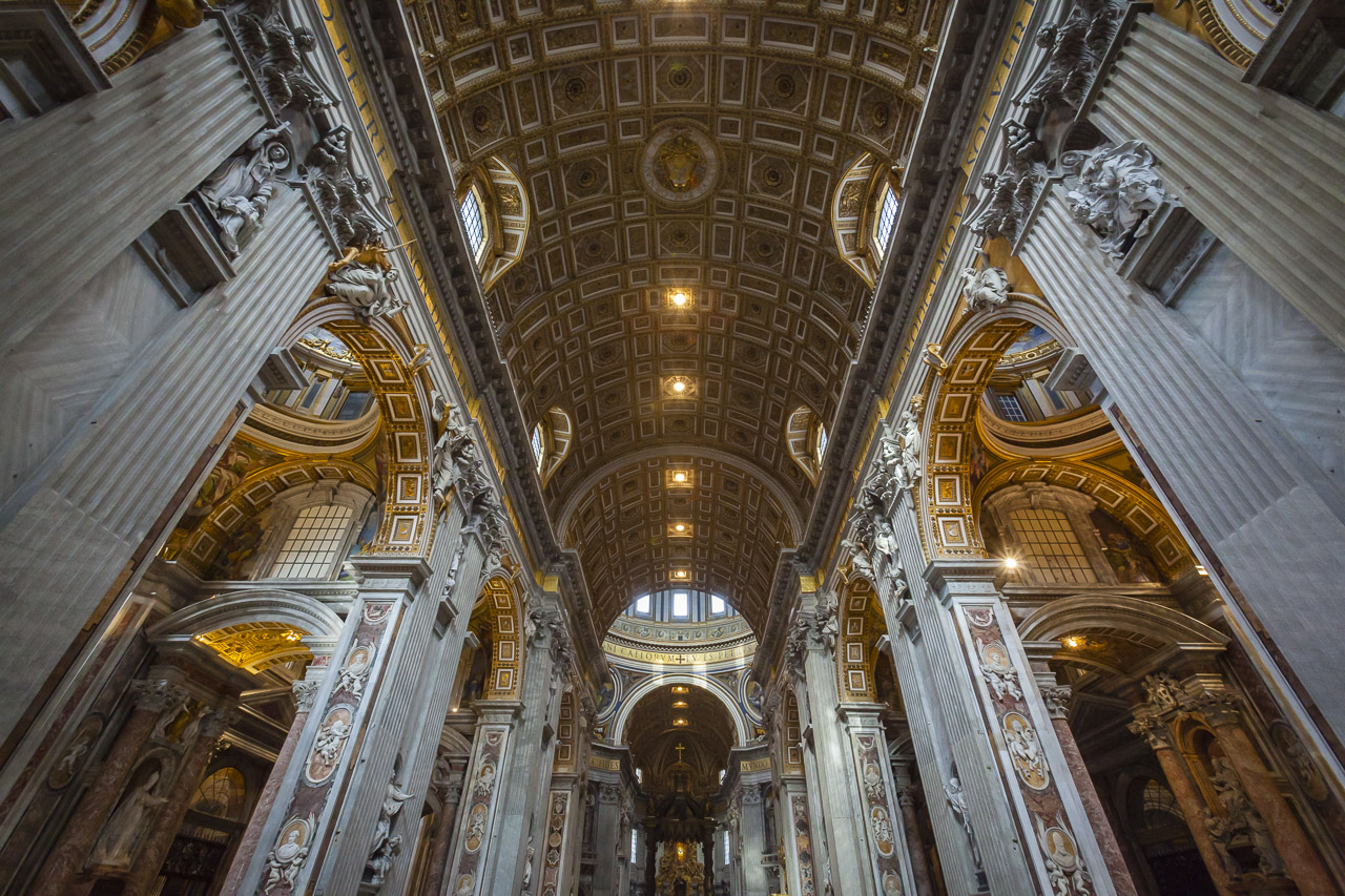 Inside St. Peter's in the Vatican