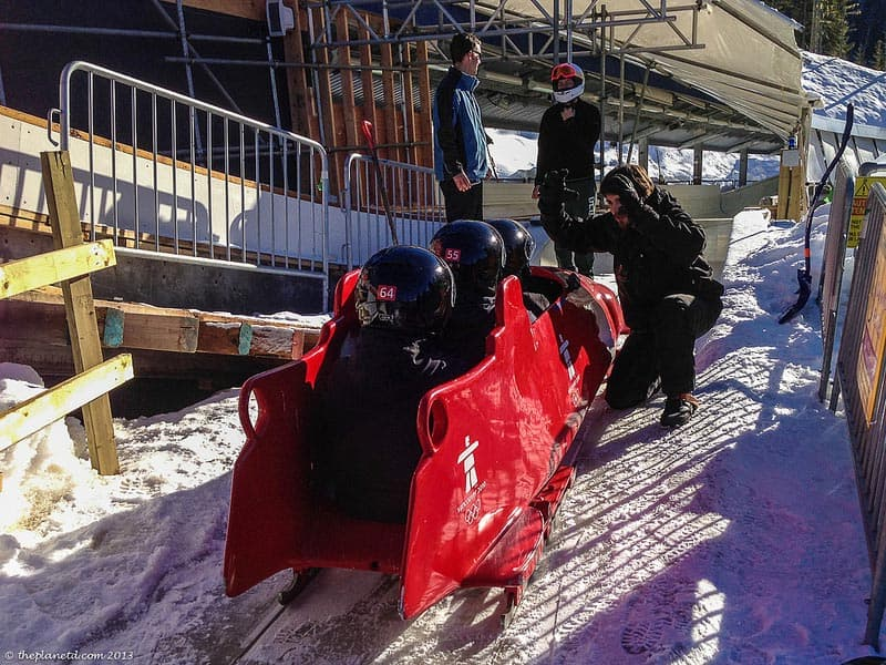 whistler bobsledding pushing off