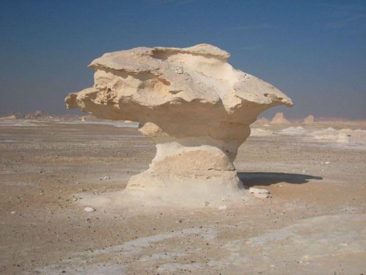 white desert lunar formations