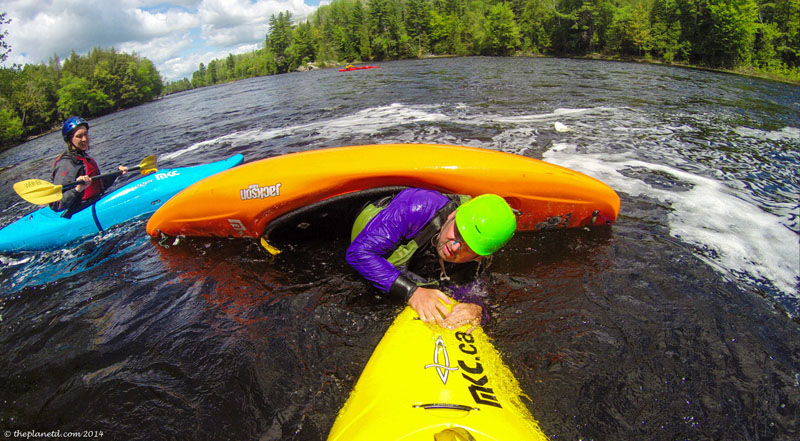 whitewater kayaking rolls wet exits ontario