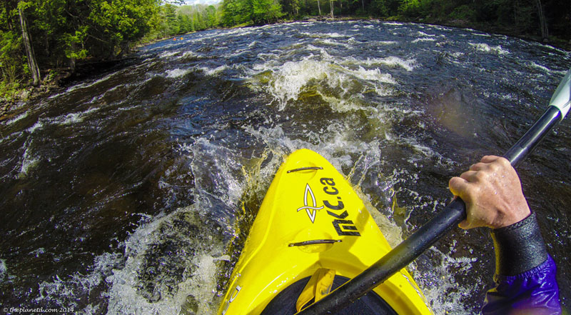 whitewater kayaking rolls wet exits rapids