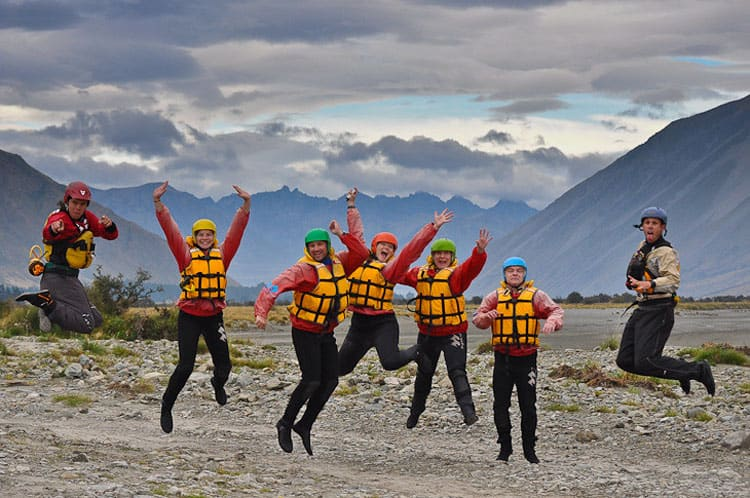 new zealand whitewater rafting group