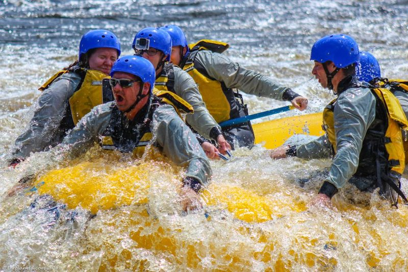 whitewater rafting ottawa river splash
