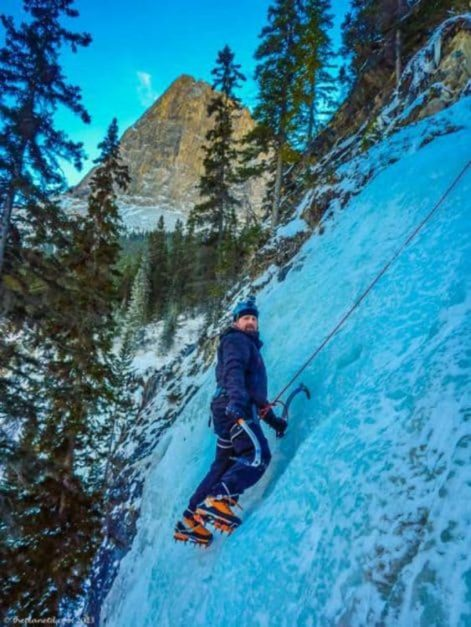 ice climbing winter activities in canada