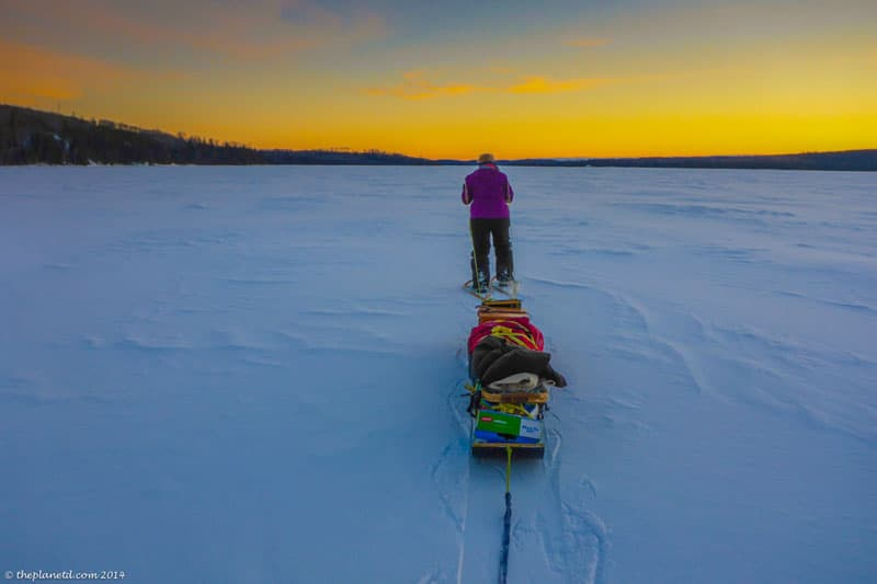 winter expedition sunset