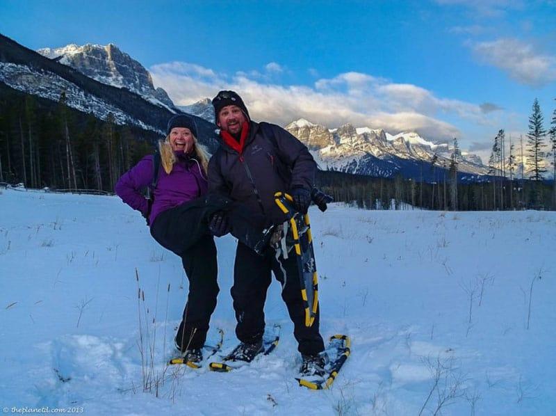 winter laying tips snowshoeing