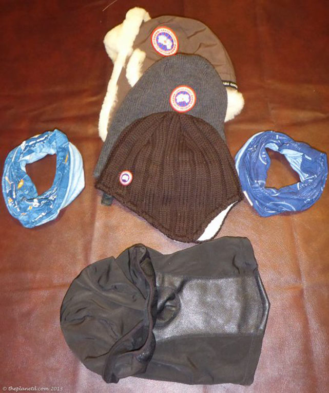 hat winter packing