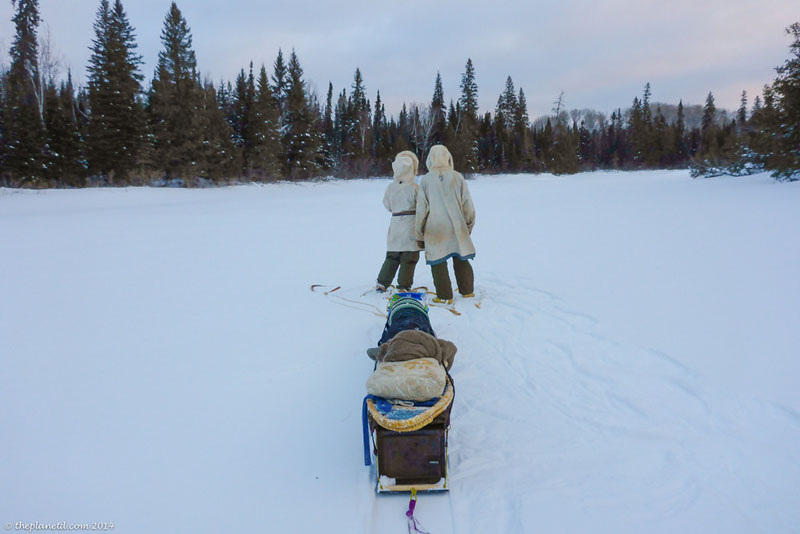 winter trekking tips sled