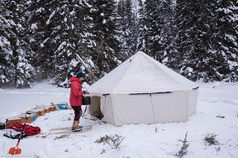 winter trekking tips tent