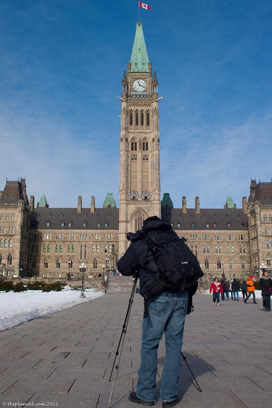 winterlude photographing parliament buildings
