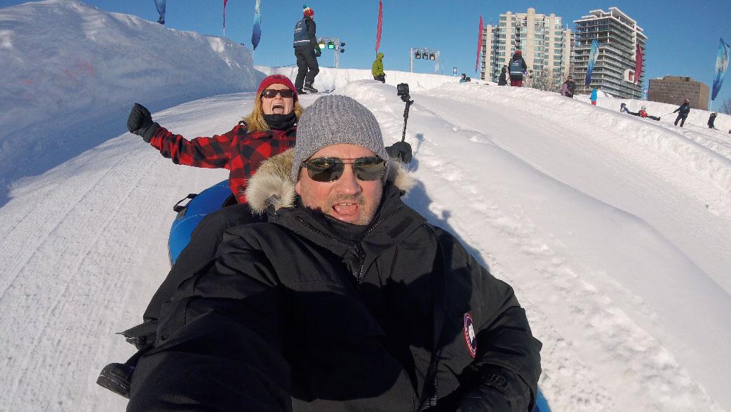 Winterlude Tubing in Ottawa