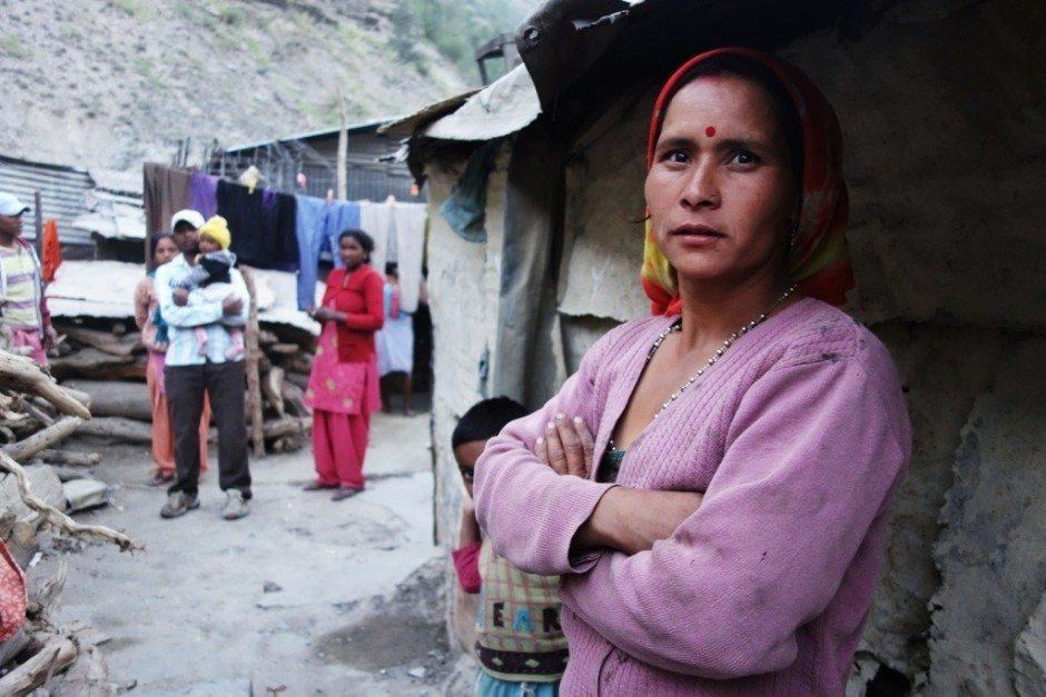 woman in slum