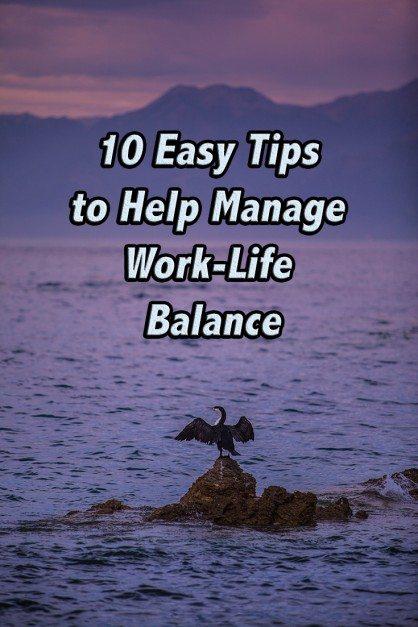how to manage work life balance