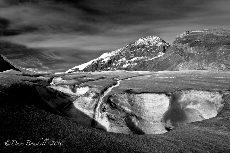 world in black and white mountains